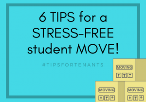 6 Tips for a stress-free student move